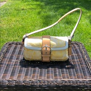 Beautiful Yellow and White Coach Bag